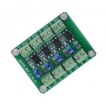 Модуль опторазвязки BUCCK817-4-V1.0  PC817 3.6-30V