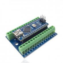 Контроллер на базе ATMEGA328P (CH340G) и IO Shield в комплекте