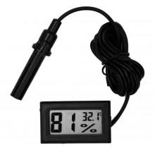 Термометр гигрометр прямоугольный цифровой с кабелем 1 м