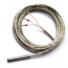 Датчик температуры Pt1000 4 х 30 мм кабель 2 метра МГТФЭ 3 х 0,2 мм